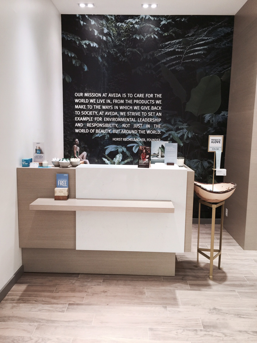 Novvo Etopa Salon/Spa Design of AVEDA EXPERIENCE CENTER PARK ROYAL - Vancouver, BC