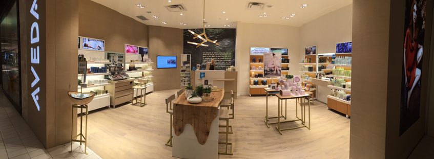 Novvo Etopa Salon/Spa Design of AVEDA EXPERIENCE CENTER RIDEAU - Ottawa, ON