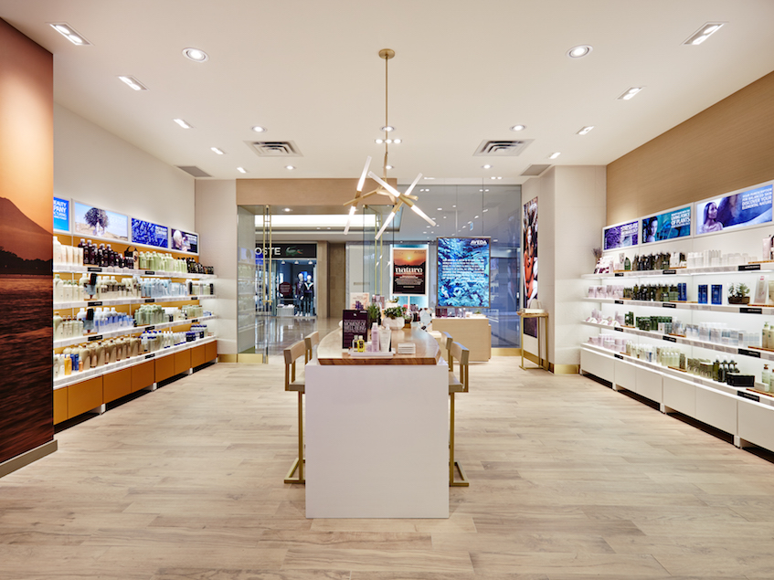Novvo Etopa Salon/Spa Design of AVEDA EXPERIENCE CENTER SHERWAY GARDENS - Toronto, ON