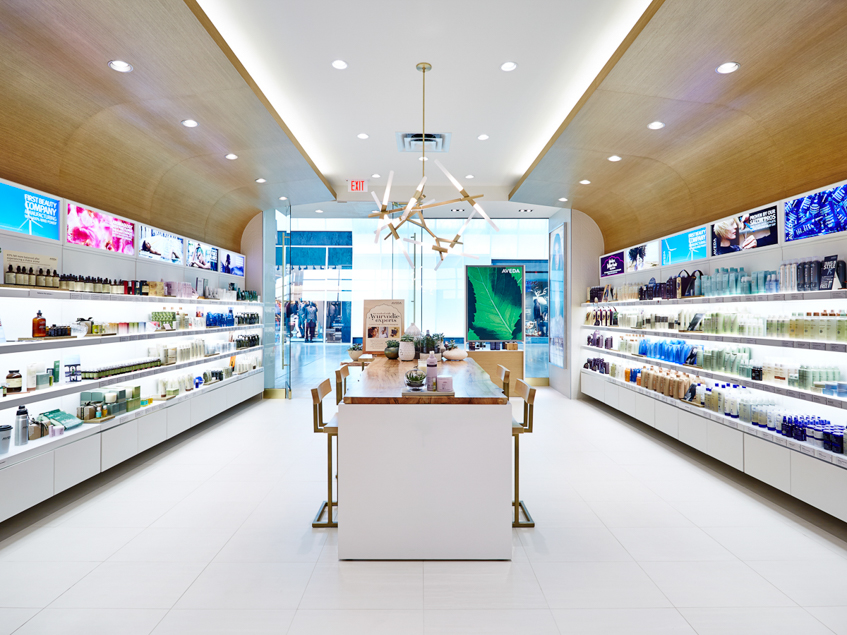 Novvo Etopa Salon/Spa Design of AVEDA EXPERIENCE CENTER YORKDALE - Toronto, ON