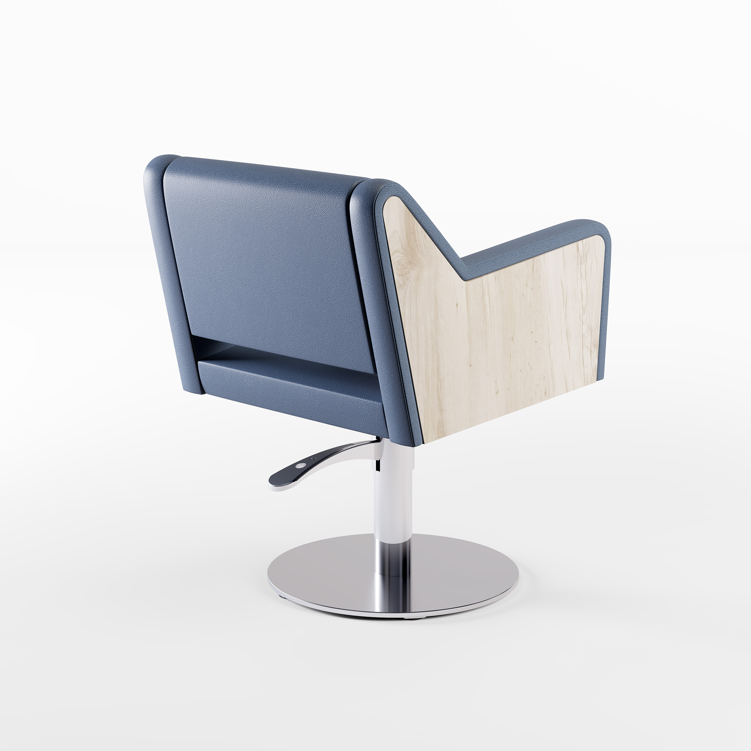 Cindarella Philosophy Styling Chair - Wood Panel Detail - Novvo Etopa